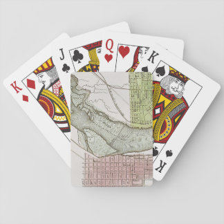JEFFERSONVILLE, INDIANA: MAP PLAYING CARDS