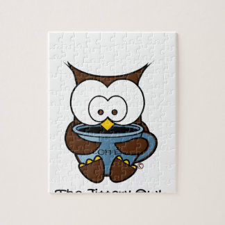 Jeffy The Jittery Owl Blue Mug Jigsaw Puzzle