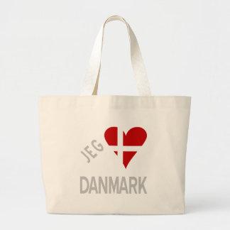Jeg Elsker Danmark Grey Jumbo Tote Bag