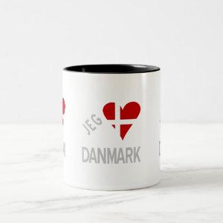 Jeg Elsker Danmark Grey Two-Tone Mug