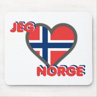 Jeg Elsker Norge (I Love Norway) Mouse Mat