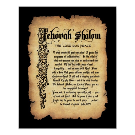 Jehovah Shalom, Lord our Peace: Names of God