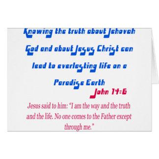 Jehovah's Witness John14-6 Card