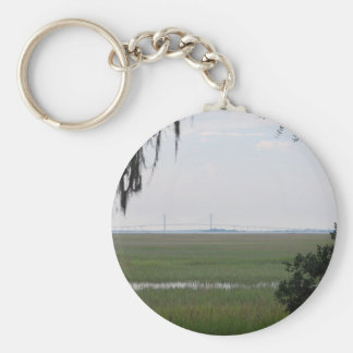 Jekyll Island Basic Round Button Key Ring