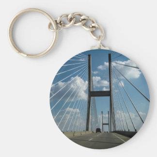 Jekyll Island Cable Bridge Key Ring