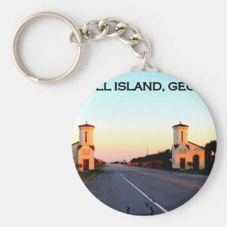 Jekyll Island Georgia Causeway Key Ring