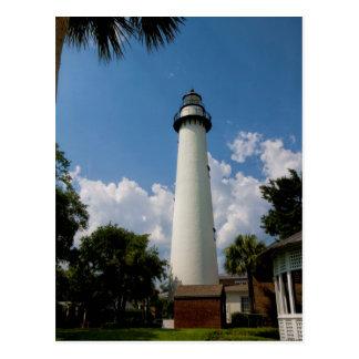 Jekyll Island Georgia Lighthouse Postcard