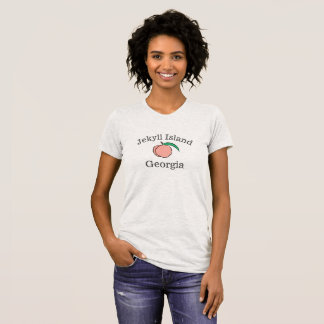 Jekyll Island Georgia Peach T-Shirt for women