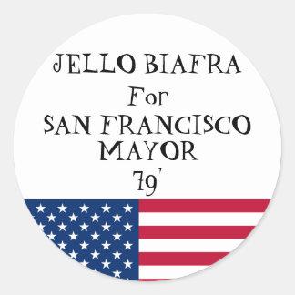 Jello for Mayor sticker