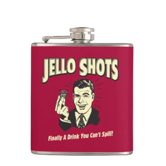 Jello Shots: Drink You Can't Spill Hip Flask