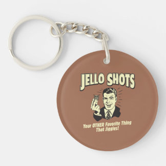 Jello Shots: Other Favorite Thing Double-Sided Round Acrylic Key Ring