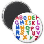 Jelly alphabets 6 cm round magnet