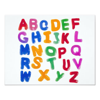 Jelly alphabets personalized invitations