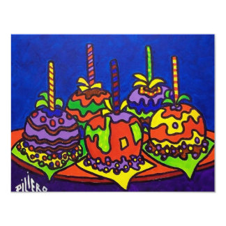 Jelly Apples 2 by Piliero 11 Cm X 14 Cm Invitation Card