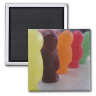 Jelly babies on parade square magnet