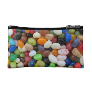 Jelly Bean black blue green Candy Texture Template Cosmetics Bags