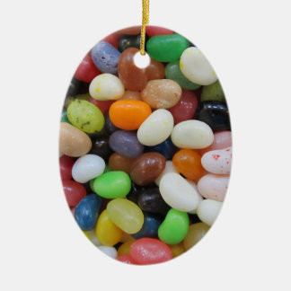 Jelly Bean black blue green Candy Texture Template Christmas Ornament