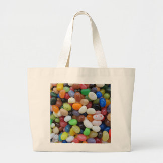 Jelly Bean black blue green Candy Texture Template Large Tote Bag