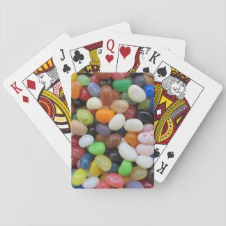 Jelly Bean black blue green Candy Texture Template Poker Deck