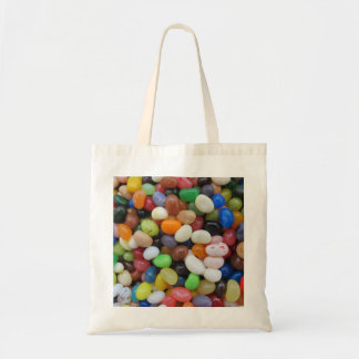 Jelly Bean black blue green Candy Texture Template Budget Tote Bag