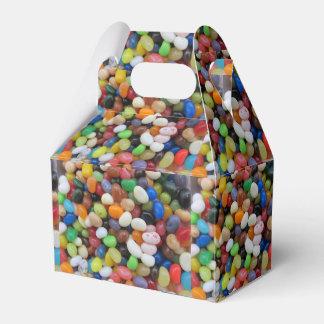 Jelly Bean black blue green Candy Texture Template Wedding Favour Box