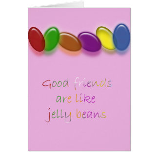 Jelly bean friends greeting card