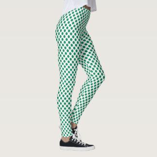 Jelly Bean Green Polka Dots Leggings