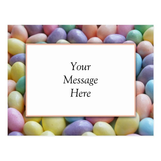 Jelly Bean Invitation Template Postcard