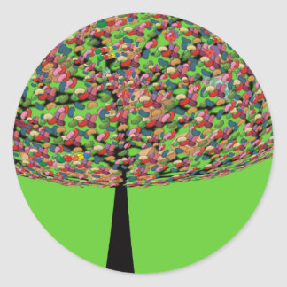 Jelly Bean Tree Classic Round Sticker