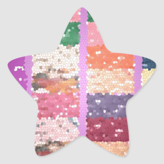 JELLY BEANS Checkered Artistic Graphic Sweets Star Sticker