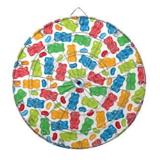 Jelly Beans & Gummy Bears Pattern Dartboard