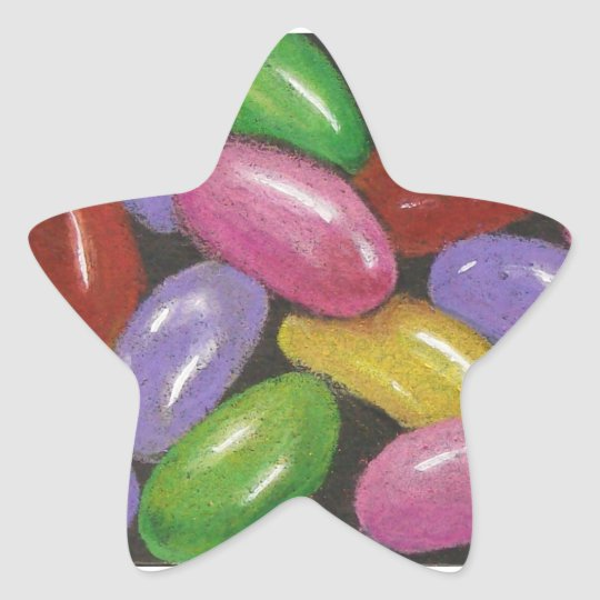 Jelly Beans in Colour Pencil: Realism Art Star Sticker