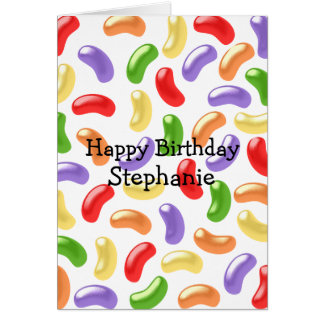 Jelly Beans Just Add Name Birthday Card