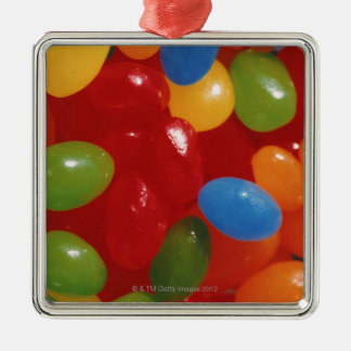 jelly beans Silver-Colored square decoration