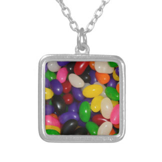 Jelly Beans Silver Plated Necklace