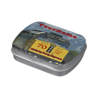 Jelly Belly Candy Tin Train Party Favor 70 Years