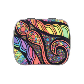 Jelly Belly™ Candy Tin with Abstract Design
