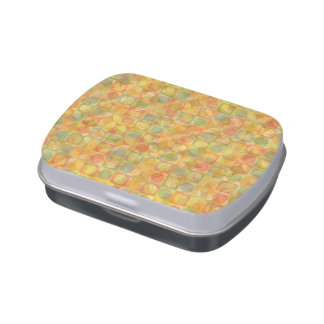 Jelly Belly™ Rectangle Candy Tin with abstract art