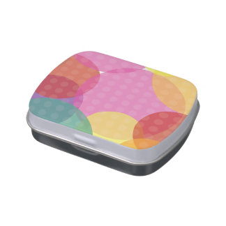 Jelly Belly™ Rectangle Candy Tin with Dot Lid