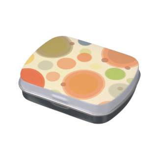 Jelly Belly™ Rectangle Candy Tin with Polka Dots