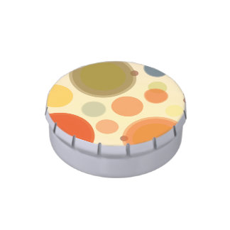 Jelly Belly™ Small Round Tin with Pastel Circles Jelly Belly Candy Tin