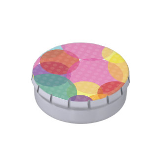 Jelly Belly™ Small Tin with Colorful Dots Candy Tins