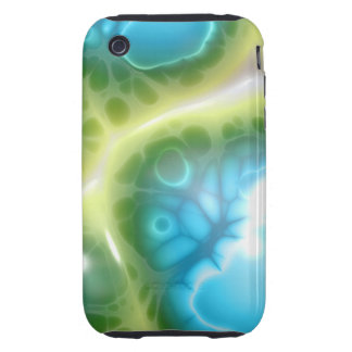 Jelly Blue Green Tough iPhone 3 Case