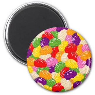 Jelly Brains 6 Cm Round Magnet