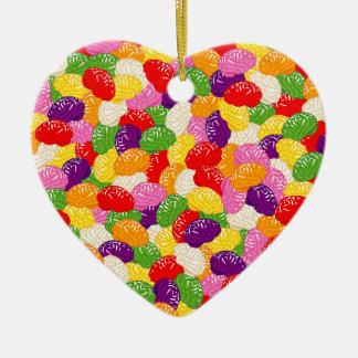 Jelly Brains Ceramic Heart Decoration