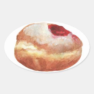 Jelly Donut Hanukkah Sticker