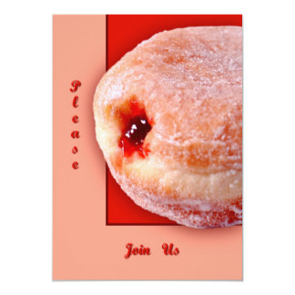 Jelly Filled Donut 13 Cm X 18 Cm Invitation Card
