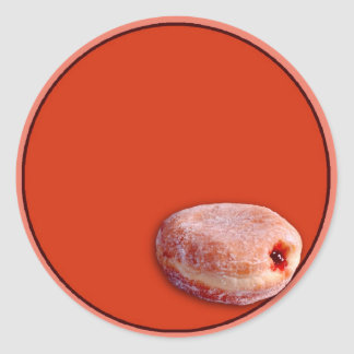 Jelly Filled Donut Classic Round Sticker
