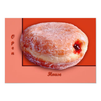 "Jelly Filled Donut 5"" X 7"" Invitation Card"