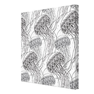 Jelly Fish Doodle 6 Canvas Print